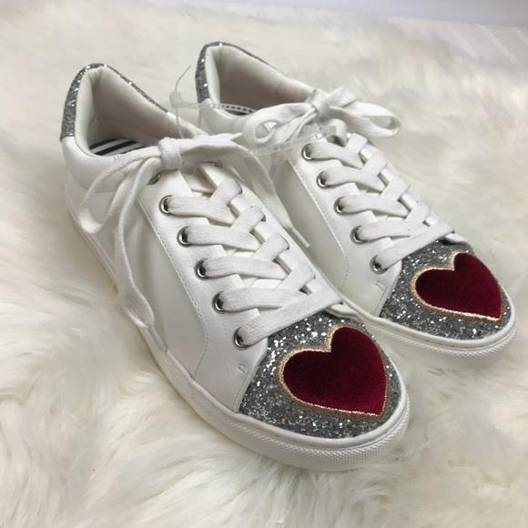 """cf8e1b974c93 Betsey Johnson Shoes - NWOT BETSEY JOHNSON 7.5 """"Blair"""" heart sneakers!"""